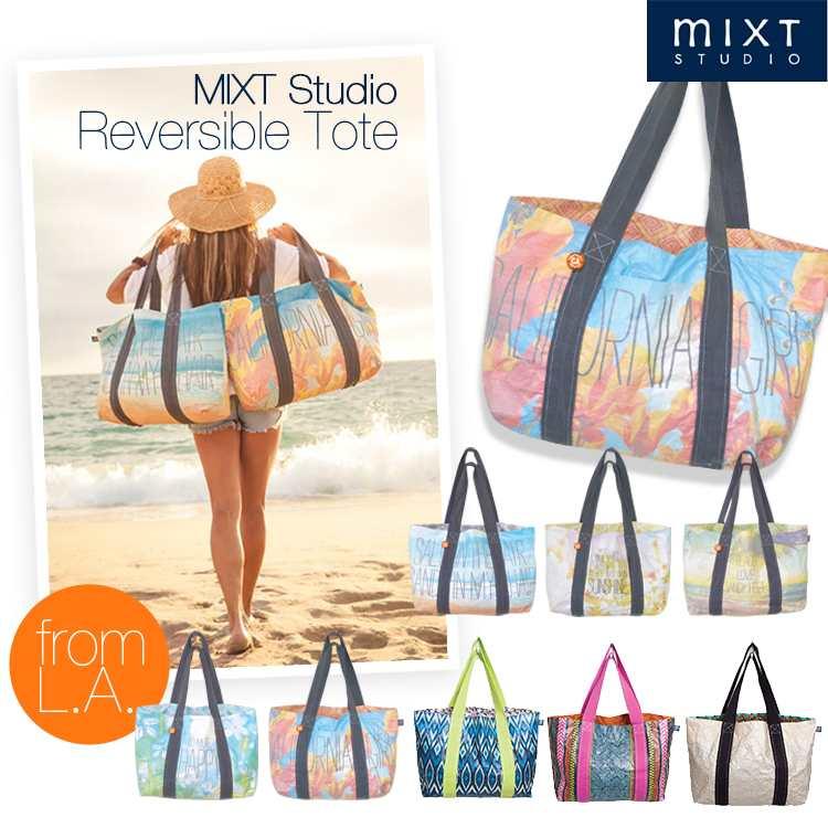 MIXT Studio Reversible Tote ビーチバッグ 海 プール エコバッグ トート リバーシブル ボタニカル ハワイ リゾート マザーズバッグ サンフランシスコ 正規品