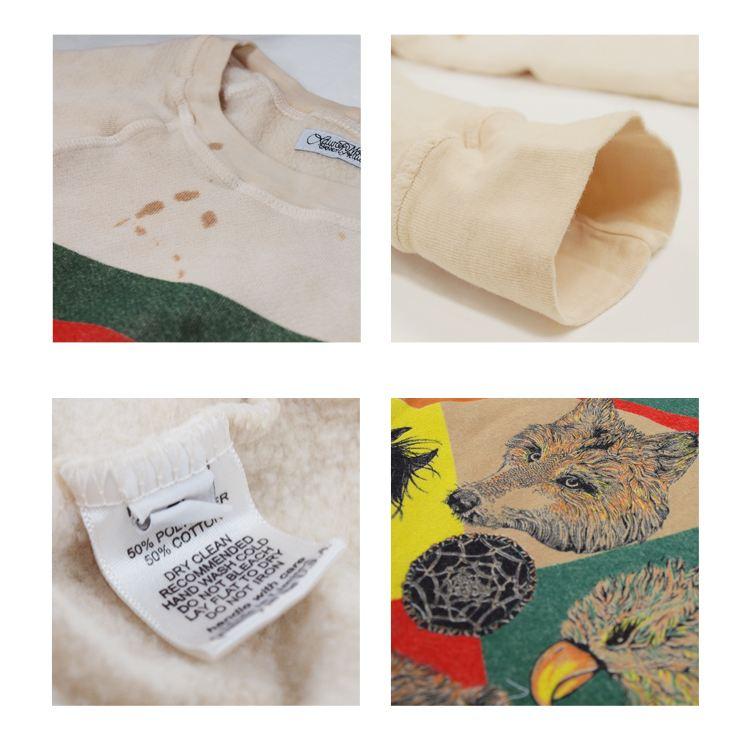 Lauren Moshi ローレンモシ デニム キャンバス トート バッグ キツネ エスニック リップ 柄 くちびる 狐 ブランド USA CANVAS TOTE BAG (TRIBAL ANIMALS)(PATTERN LIP) 9001