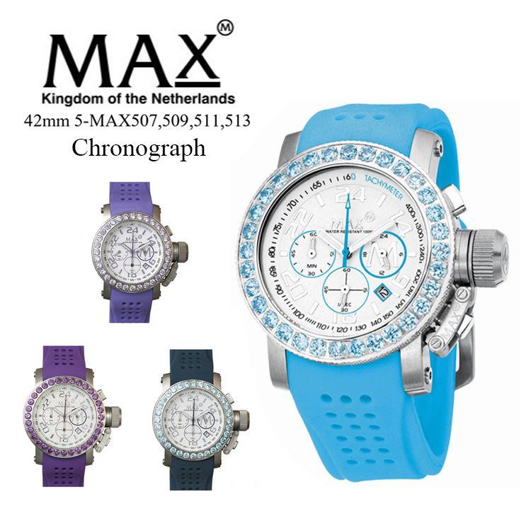 MAX XL WATCHES 5-MAX507 腕時計 クロノグラフ機能 日付表示機能 2年保証付 メタルベルト 50m防水 日本製クオーツ採用 オランダ スーツ カジュアル