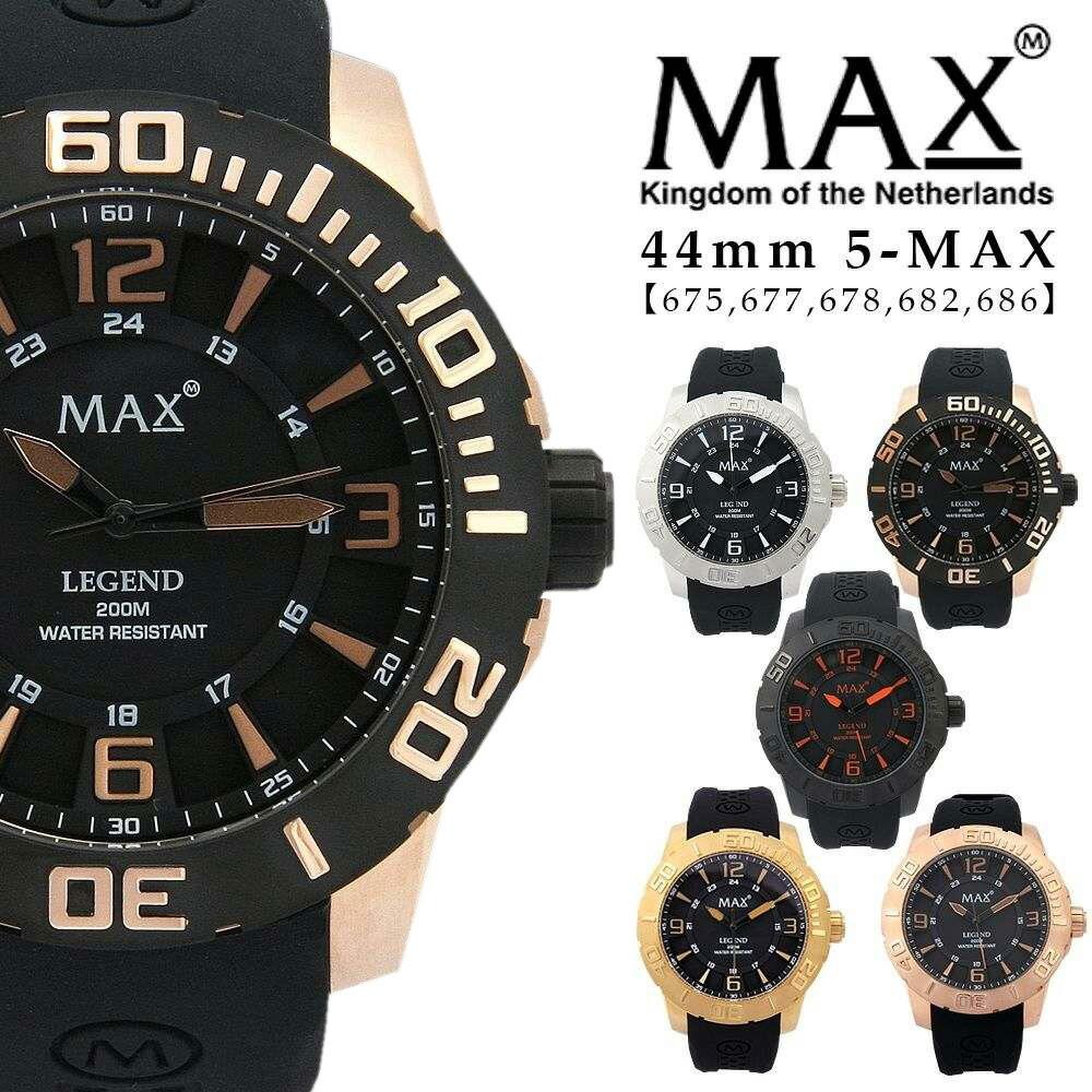 max XL WATCHES マックス メンズ 腕時計 ラバーバンド シリコンバンド スポーツ ゴールド 5-max 675 677 678 682 686 オランダ ヨーロッパ EU 大きい 2年保証書