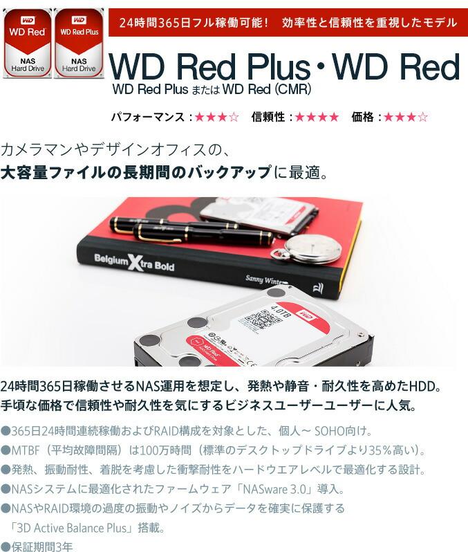24時間365日フル稼働可能! 効率性と信頼性を重視したモデル WD Red