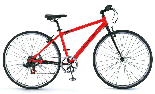 CORVETTE(コルベット)700Cクロスバイク シマノ7段変速ギア AL-CRB7007N レッド