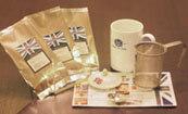 茶こし付きティーマグ(陶器製マグカップ・蓋、茶漉し付)とお勧め紅茶3種のセット「紅茶入門」【入門】【初心者向け】【紅茶】
