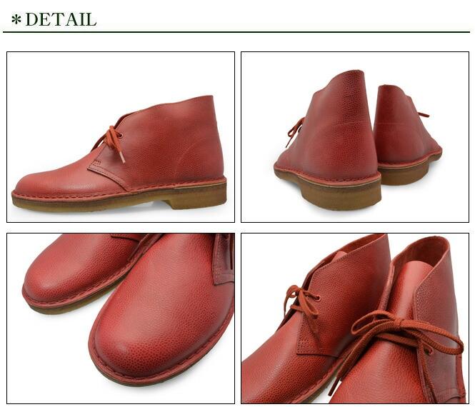 CLARKS DESERT BOOT RED INTEREST LEA 20356343 クラークス  デザートブーツ  レッド インタレスト レア メンズ UK企画 クレープソールの詳細画像