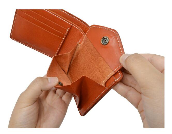 栃木レザー 日本製 二つ折り財布 小銭入れ