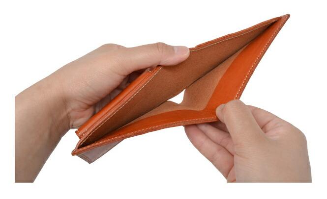 栃木レザー 日本製 二つ折り財布 札入れ