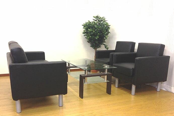 応接セット 4点 4人用 2人掛けソファー 1人掛けソファー センターテーブル 応接椅子 応接ソファー ロビー ラウンジ 待合室 オフィス 会社 シャルマン SA681-T5S