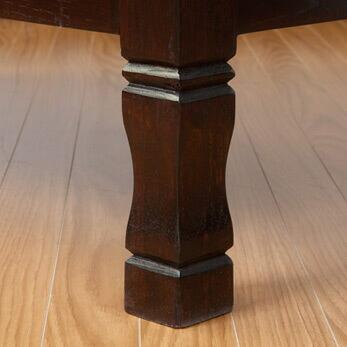 見無垢材のマルチオープンラック4段/H150cm/ダークブラウン【A-016b】