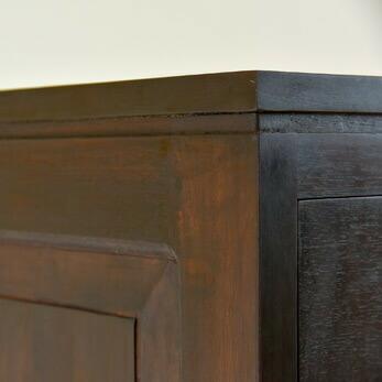 【AS-052】 シンプルアジアンテイスト木製マルチキャビネット詳細画像
