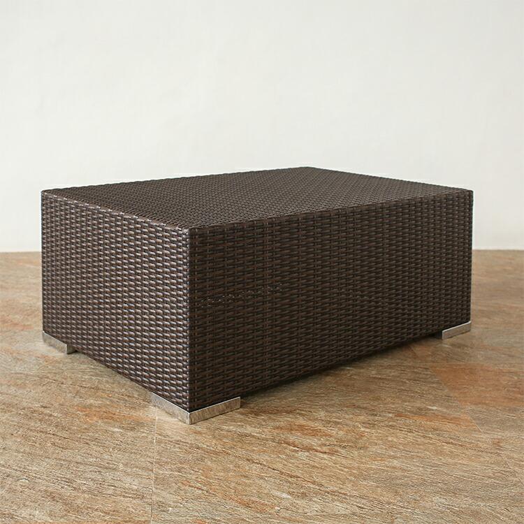 屋内外で利用可能!ラタンローテーブル [Tuban] 【TULT-03】セミオーダー対応