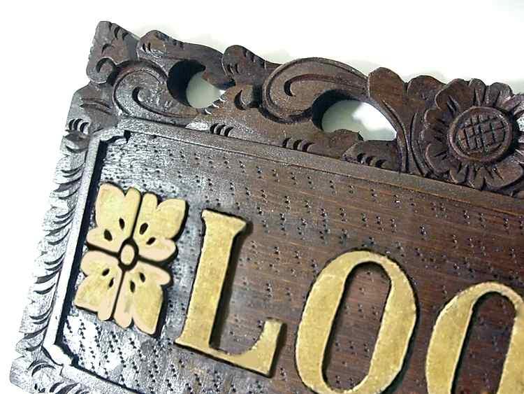 【47614】オーダーネームプレート壁掛タイプ-M/ロータス/30×15cm