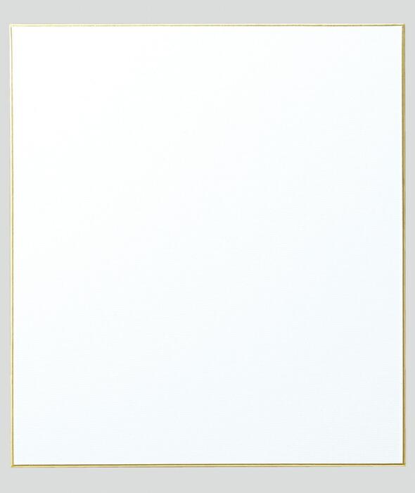 ミニ色紙[寸松庵] 画仙紙 松 吸込
