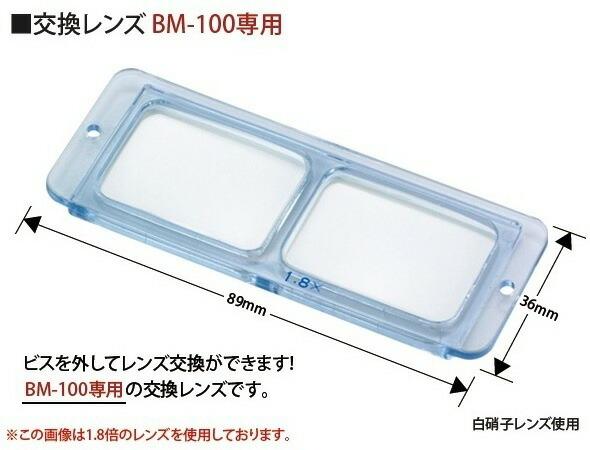 双眼ヘッドルーペBM-100専用交換レンズ1.8倍のご紹介