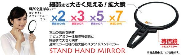 手鏡タイプの拡大鏡