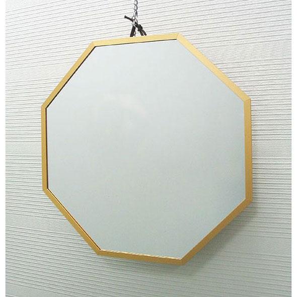 開運 八角 壁掛け鏡 ゴールドLイメージ