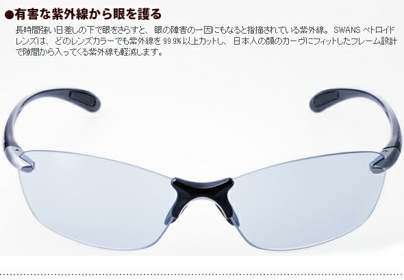 有害な紫外線から眼を護る