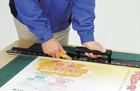 【楽天市場】アルミカッター定規 カット師EX 1m 併用目盛 取手付 定規 カッター定規 ステン鋼 シンワ測定:ルーペスタジオ