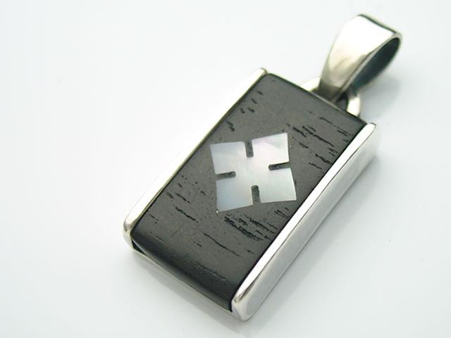 ギターフレットペンダントトップ・スロテッドダイヤモンド
