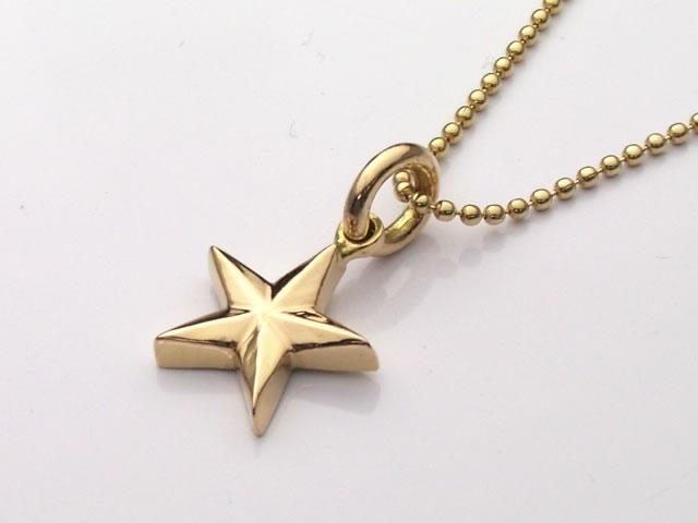 18金製のSTAR(スター・星)ペンダントトップ