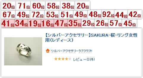 SAKURA-桜-リング女性用(レディース)