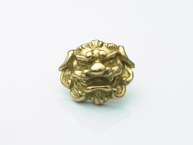 18金製の唐獅子ピアス