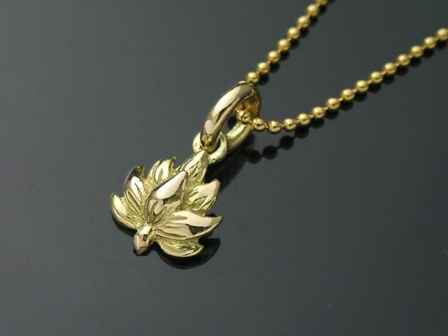18金製の蓮の花ペンダントトップ