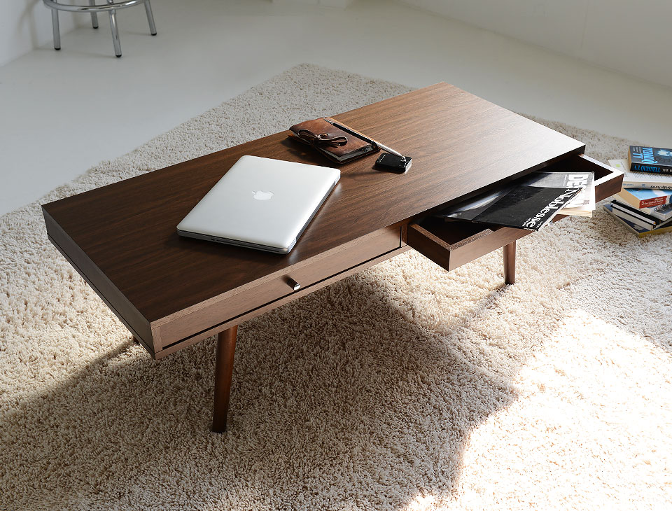 収納付きローテーブル