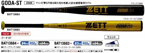 ゼット ZETT 野球 ゴーダST 硬式金属バット ミドルバランス 高校ルール対応 BAT136|ライナースポーツ