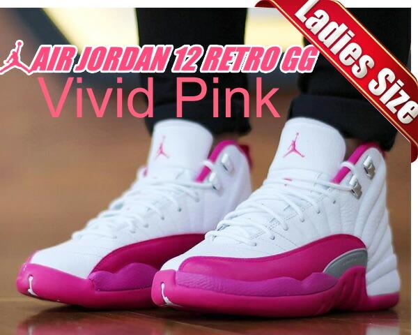 【送料無料 ナイキ スニーカー エア ジョーダン 12 レディースサイズ】NIKE AIR JORDAN 12 RETRO GG  wht/v.pink-m.slv:LTD online