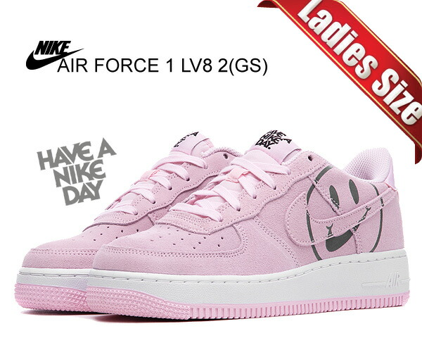 Among published by advantageous discount coupon! NIKE AIR FORCE 1 LV8 2(GS) pink formpink form black av0742 600 sneakers hub hole smart D pink