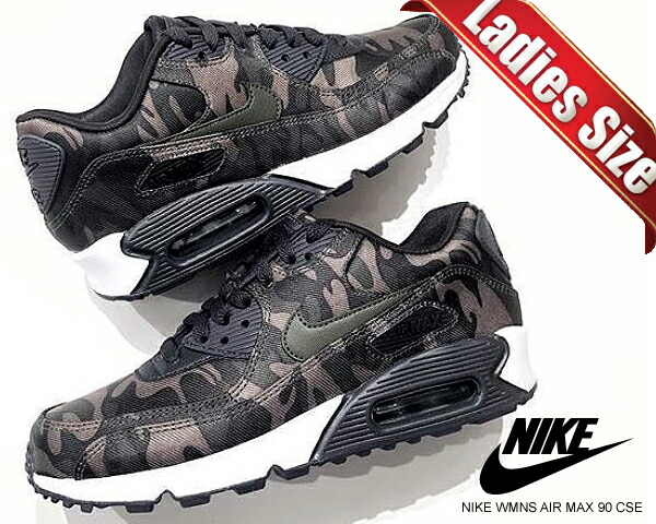 Among published by advantageous discount coupon! NIKE WMNS AIR MAX 90 CSE oil greycargo khaki white aq9721 002 sneakers Lady's camouflage camouflage