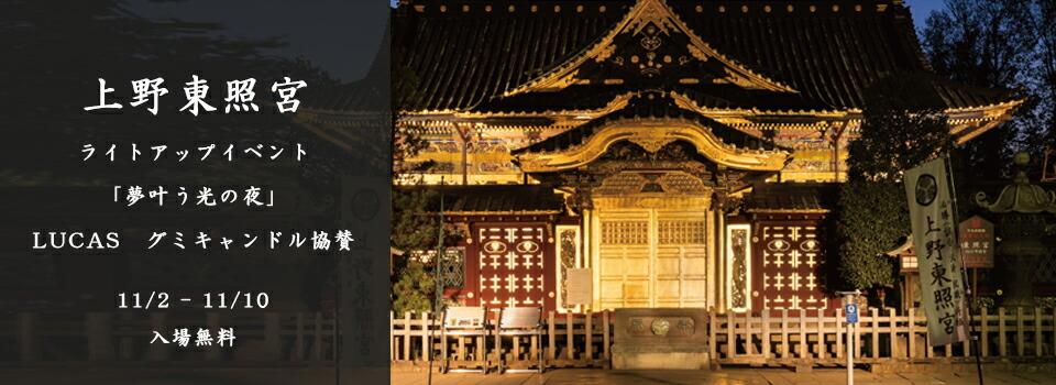 上野東照宮のライトアップイベントにLUCASのグミキャンドルが採用されました!