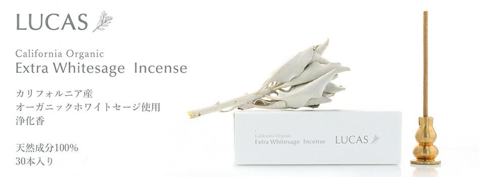 LUCAS エクストラ・ホワイトセージ インセンス【スティックタイプ】浄化 瞑想用 お香 新発売