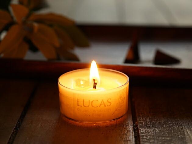 ホワイトセージ 浄化 瞑想 キャンドル [ミニ] LUCAS ルカス 【浄化・瞑想・マインドフルネス・ヨガに [日本製]】