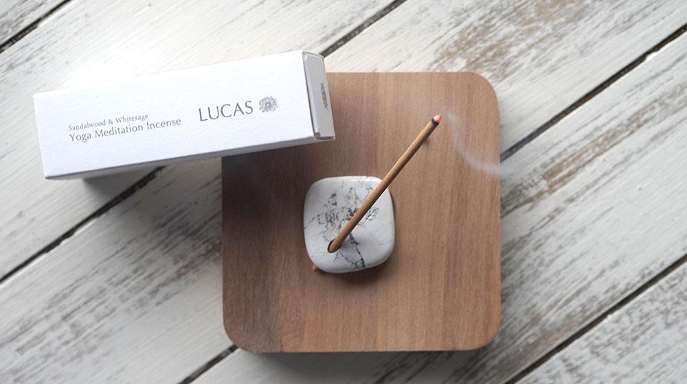 LUCAS サンダルウッド&エクストラ・ホワイトセージ インセンス【スティックタイプ】