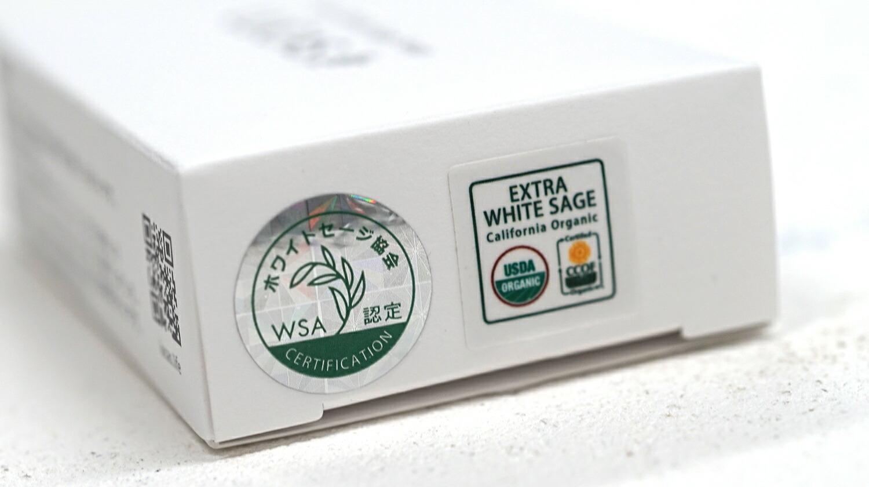 ホワイトセージ協会認定シール、USDA,CCOFオーガニック認証シール