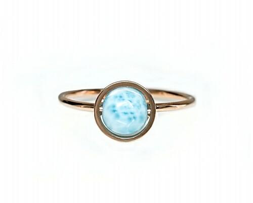 ラリマー K18リング・指輪 【平安・癒し】 petitnoel - Chou