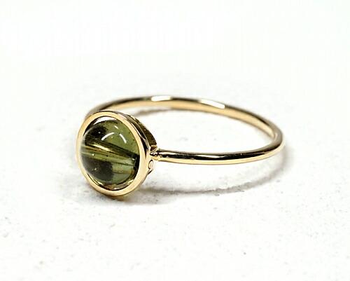 モルダバイト K18リング・指輪 【叡智と繋がる】 petitnoel - Chou