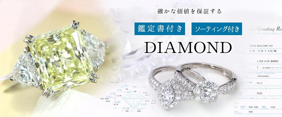 鑑定書付きダイヤモンド,ソーティング付きダイヤモンド