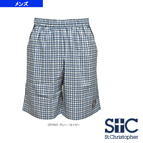 a99b9788bc2bf [セントクリストファー テニス・バドミントン ウェア(メンズ/ユニ)]チェック ゲームショートパンツ/メンズ(STC-AGM5034)