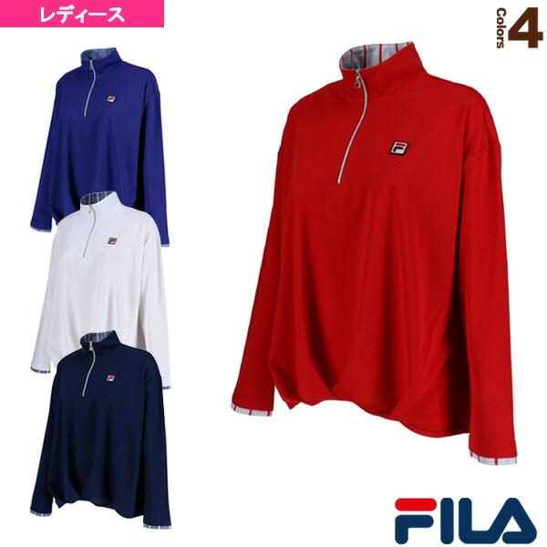 長袖ジップシャツ/レディース(VL1683)