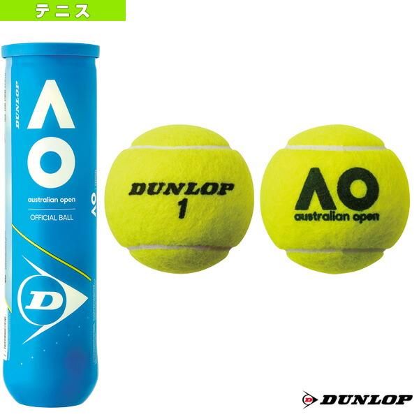 DUNLOP AUSTRALIAN OPEN/ダンロップ オーストラリアンオープン『缶単位(1缶/4球)』(DAOYL4TIN)