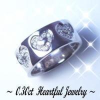 プラチナ ダイヤモンド ピンキーリング