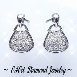 K18ホワイトゴールド ダイヤモンド ピアス