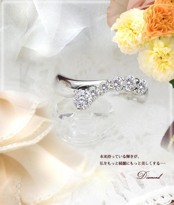 K18  0.50ct ダイヤモンドリング