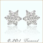 K18ホワイトゴールド×天然ダイヤモンド ペンダントネックレス