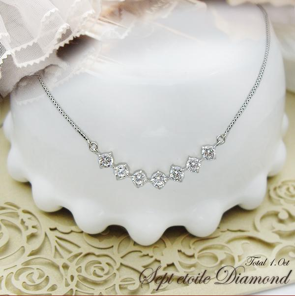 pt900 ダイヤモンドペンダントネックレス