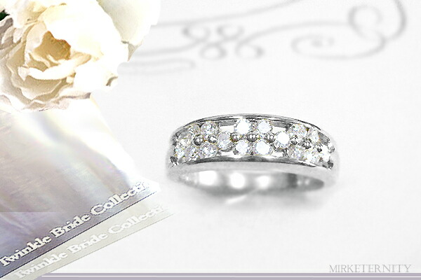 プラチナフラワーダイヤモンドエタニティリング(指輪)[SIクラスF〜Dカラー無色透明]