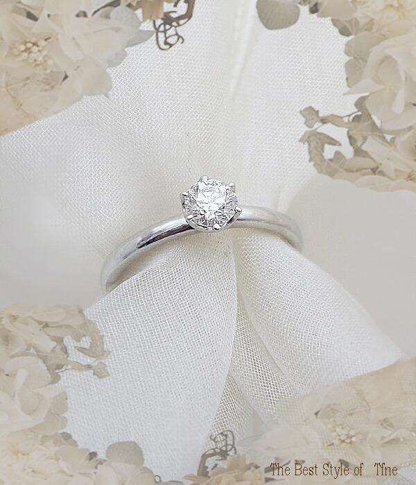 K18一粒ダイヤモンドリング[SIクラスH〜Eカラー無色透明]エンゲージ/ブライダルリング/ブライダルジュエリー