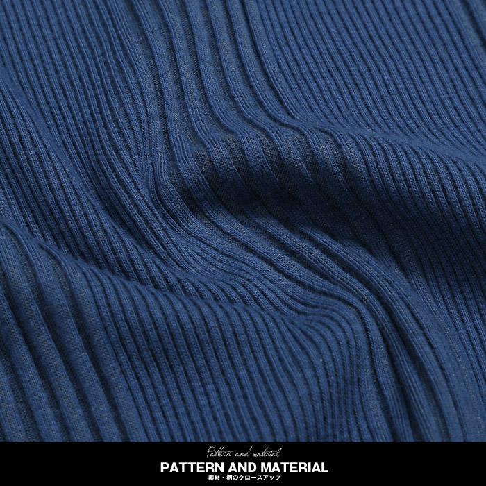 BITTER テレコ ロンT 長袖 Tシャツ カットソー メンズ ストレッチ リブ 伸縮 伸びる トップス インナー 無地 お兄系 ビター ファッション 素材